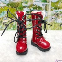 1/6 Bjd Neo B Doll Shoes PU Leather Long Boots Red LYS026RED