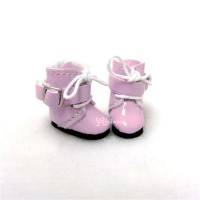 Middie B 2.2cm Doll Shoes Buckle Boots Pink SBB006PNK