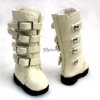 1/6 Bjd Doll Shoes Buckle Boots Blonde SHP129BLD