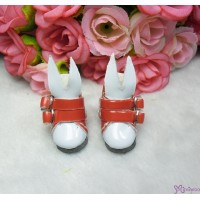 1/6 Bjd Doll Shoes Bunny Ear Buckle Boots Red SHP192RED