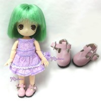 SBB002PNK Hujoo Baby Obitsu 11cm Body Maryjane Doll Shoes Pink