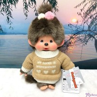 Monchhichi Warm Knit 30cm M Size MCC Girl Plush Doll 200634