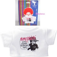 Monchhichi S Size Fashion Outfit T- Shirt White Tee with Black MCC 222120
