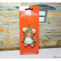 Monchhichi Baby Bebichhichi Friend Plush Mascot Phone Strap - Raccoon 23838