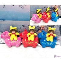 Monchhichi x Rody Horse 11cm Plush Mascot Ball Chain Set of 3pcs 238950+60+70