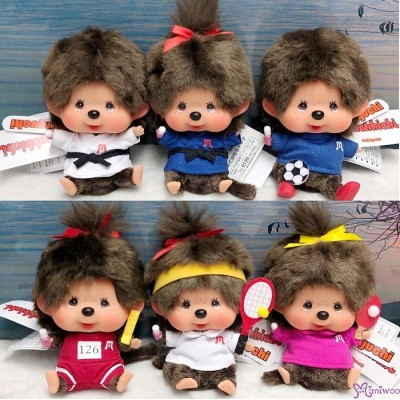 Sport Monchhichi 13cm Judo Tennis Soccer Athlete Boy & Girl (6pcs Set)  262526set