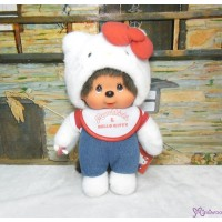 "Hello Kitty x Monchhichi M Size Plush 28cm Limited 323816 ""LAST ONE"""