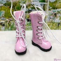 1/6 Bjd Neo B Doll Shoes PU Leather Long Boots Pink LYS026PNK