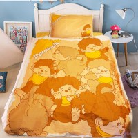 Monchhichi Bedding 100% Cotton Quilt Cover, Pillow Case and Fitted Sheet (Double) PSB002D