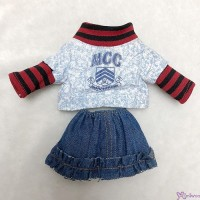 MCC S Size Fashion Outfit School Wear Top + Jeans Skirt RT-40