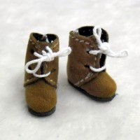 Middie B 2.2cm Doll Shoes Flocked Boots Lt.BRN SBB008LBN