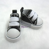 1/6 Bjd Neo B Doll PU Leather MICRO Shoes Sneaker Black SHP125BLK