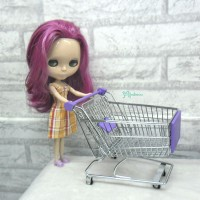 1/6 Bjd Mini Shopping Cart L Purple TBA018PUE