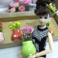 1/6 Bjd Mini Plant with Flower Pot 4pcs set YC0063