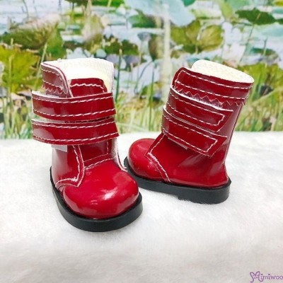 SHU073RED Yo-SD 1/6 bjd Doll Shoes Double Strap Boots RED